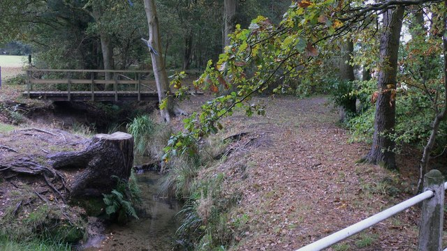 Footbridge over stream at Bordon Camp