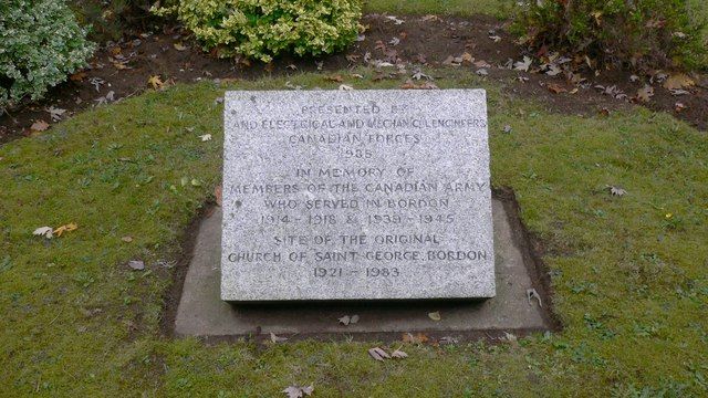 Memorial to those of the Canadian Army who served at Bordon