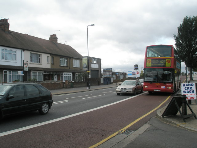 427 bus  entering Southall