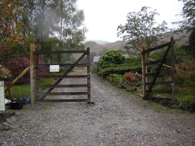Gateway to small garden centre near Bellsgrove