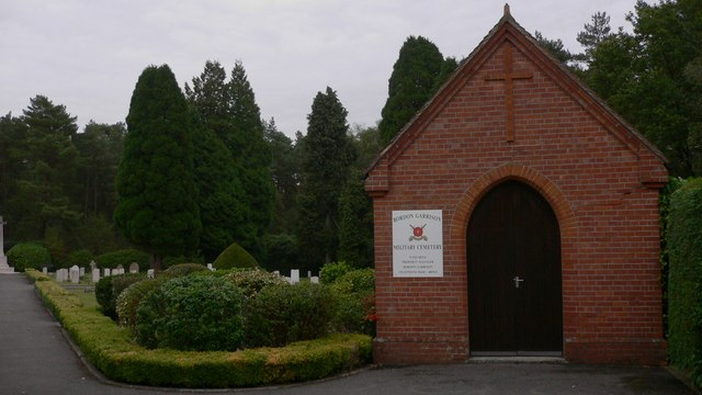 The chapel at Bordon Garrison Military cemetery