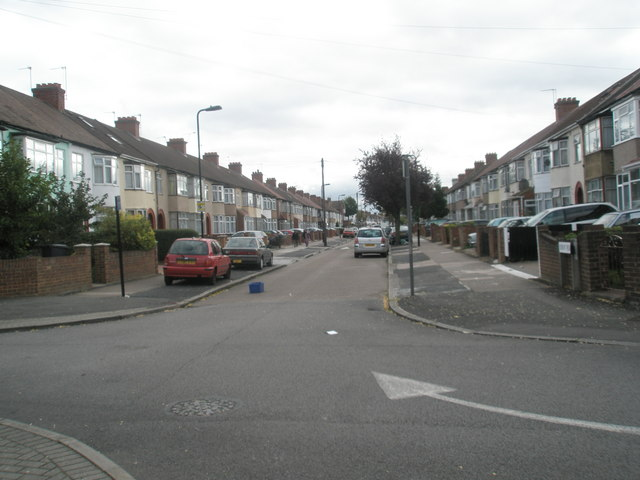 Looking southwards down Ruskin Road
