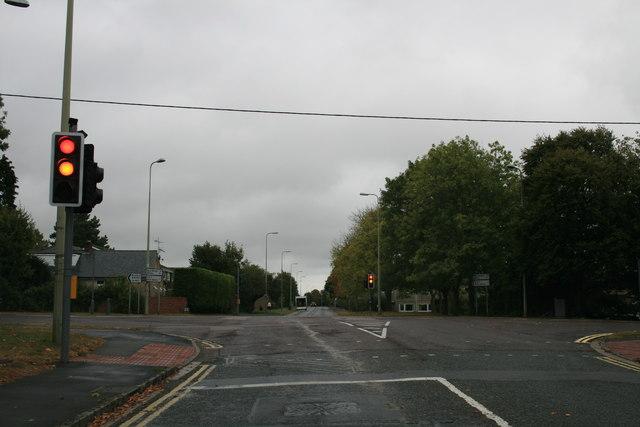 Traffic lights in Carterton