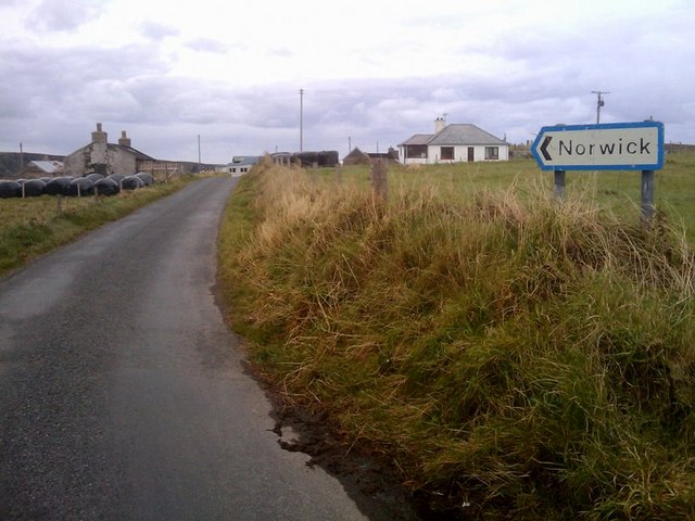 Road into Norwick