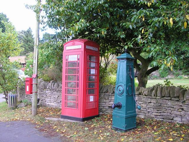Water Pump & Telephone Box , Manor Rd., Stretton