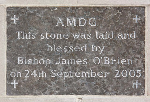 Our Lady & St Vincent, Mutton Lane, Potters Bar, Herts - Foundation stone