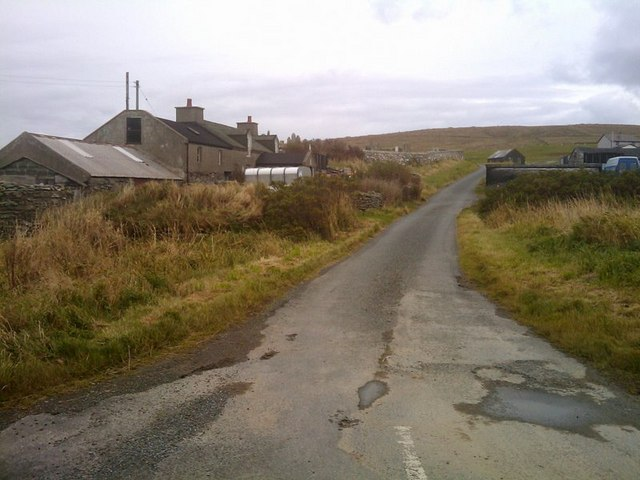 The road to Millfield, Norwick