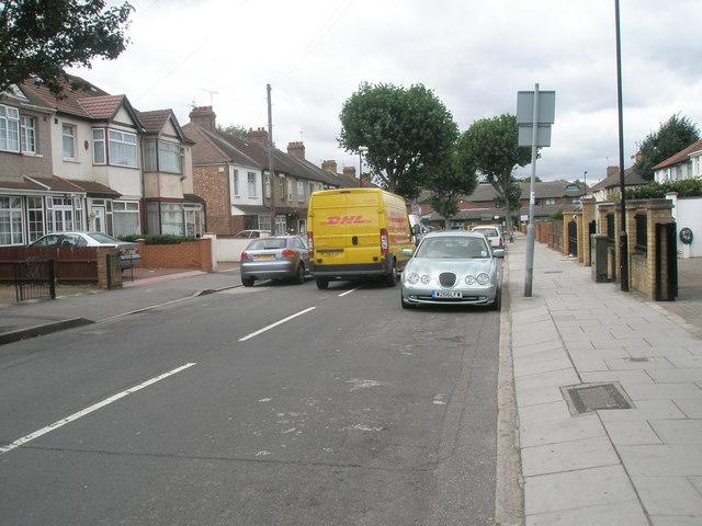 Van in Beaconsfield Road