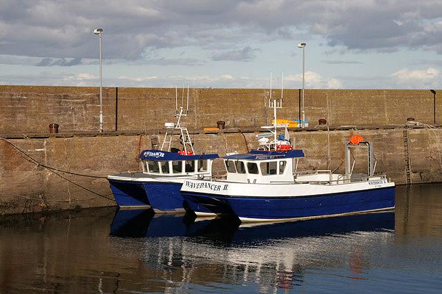 Boats at St Abbs