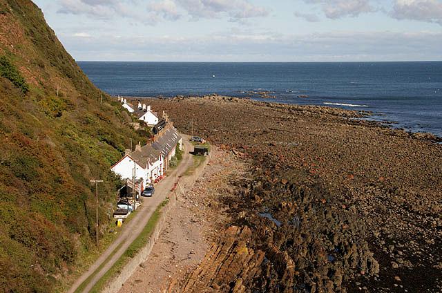 The shoreline at Partanhall, Burnmouth