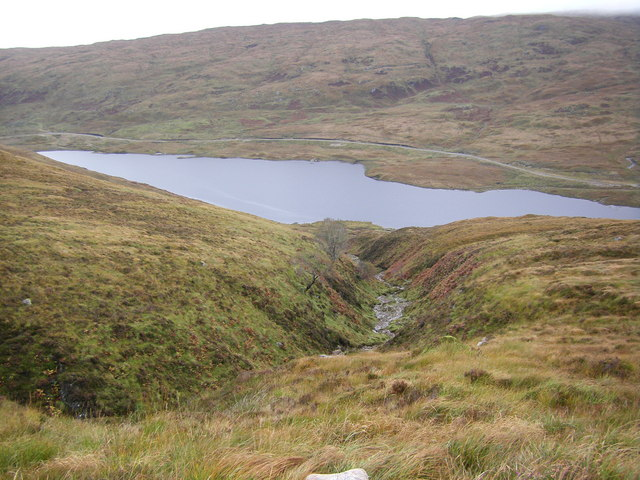 Allt Ruadh running down to Loch Uisge