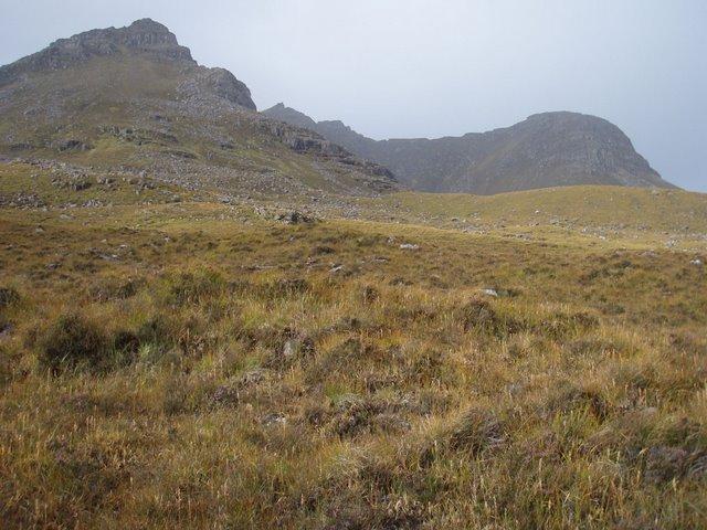 Moorland slopes below Beinn Dearg Mòr
