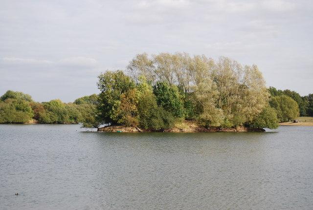 Island, Barden Lake, Haysden Country Park
