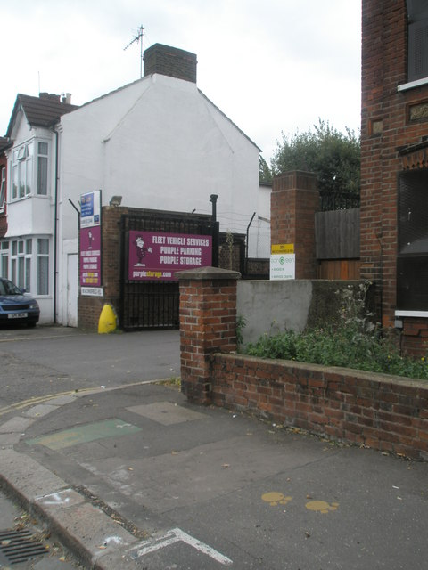 Approaching the entrance to the business park in Beaconsfield Road