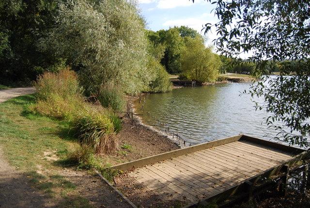Fishing platform, Barden Lake