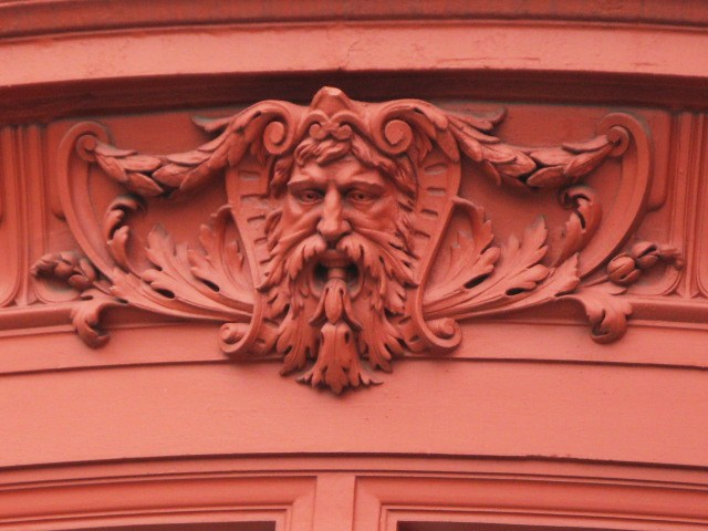 Another hirsute man on a building in Chiltern Street, W1