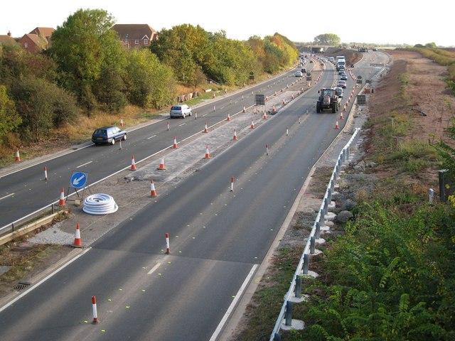 A46 south of Hampton Road bridge