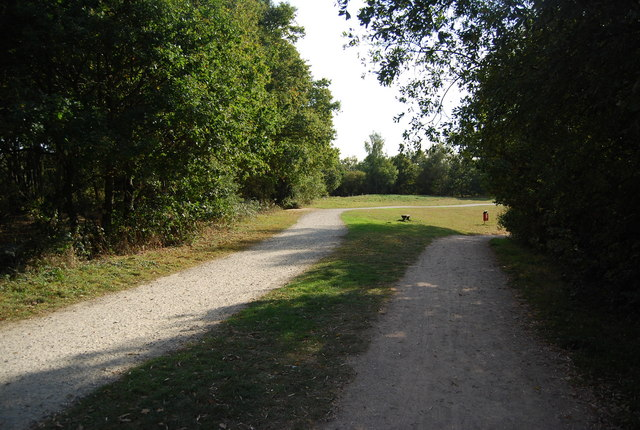 Footpath & National Cycleway 12 side by side, Barden Lake