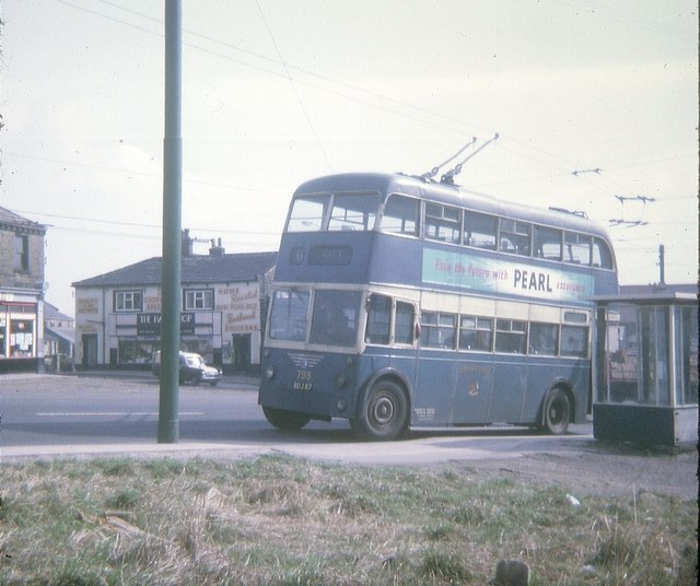 Bradford Trolleybus at Wibsey Terminus (2)