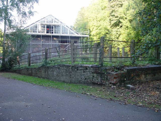 Former Victorian cattle pen's at Tetbury G.W.R station yard.