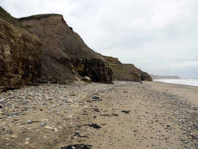 Coastal erosion at Seaham Beach