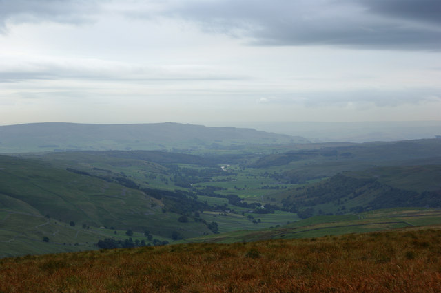 A view of lower Wharfedale from Tor Mere Top
