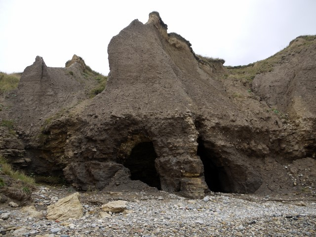 Erosion of cliffs on Seaham beach