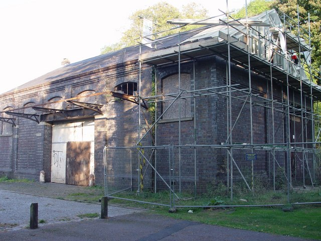 Restoration of the G.W.R goods shed at Tetbury.