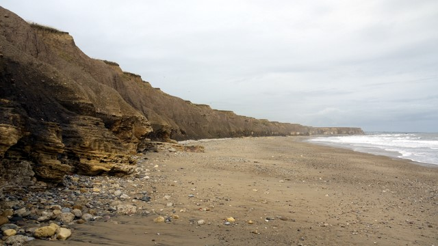 View north along Seaham Beach