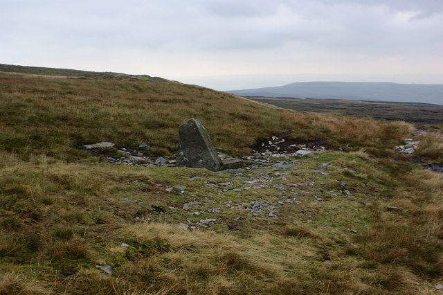 A boundary stone