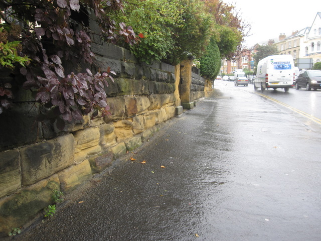 Filey Road and a bench mark