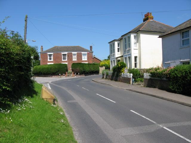 View along Church Hill, Eythorne