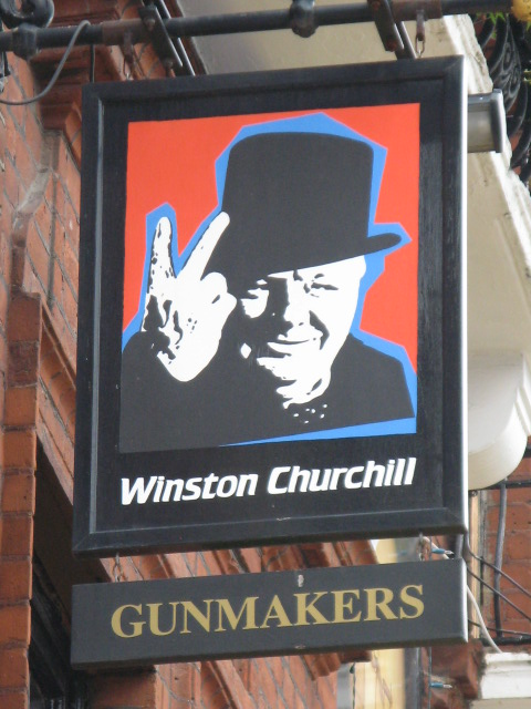 Sign for The Gunmakers, 33 Aybrook Street, W1 (2)