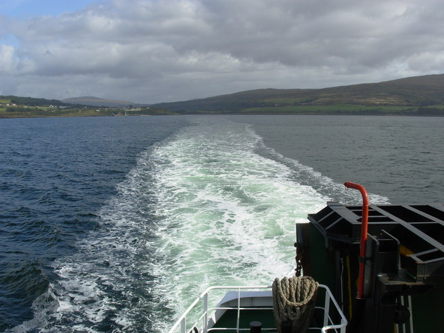 Aboard ferry on the Sound of Mull