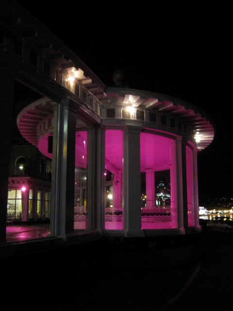 The bandstand at Scarborough Spa Suncourt