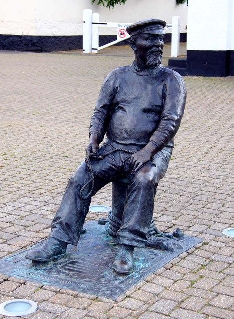 "Statue of John ""Yankee Jack"" Short at Watchet Marina"