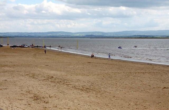 The beach at Burnham-On-Sea