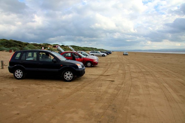 Cars on Berrow Flats