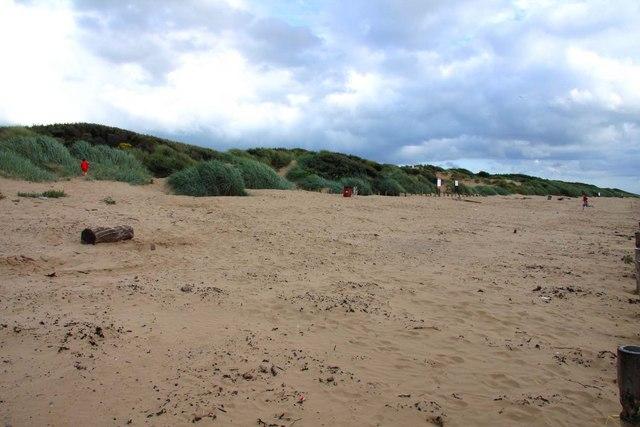 Sand dunes at Berrow