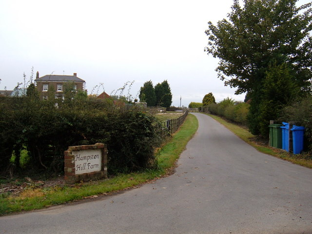 Track to Hampston Hill Farm
