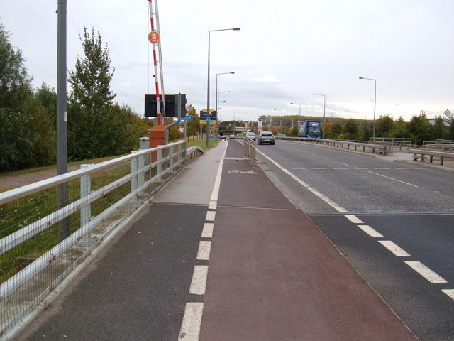 Cycle Track on the Lift Bridge