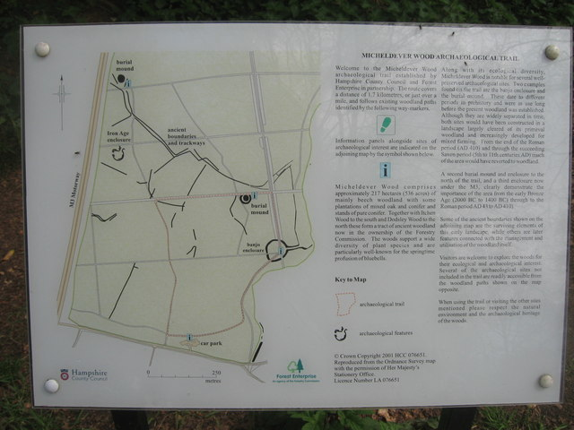 Micheldever Wood Archaeological Trail
