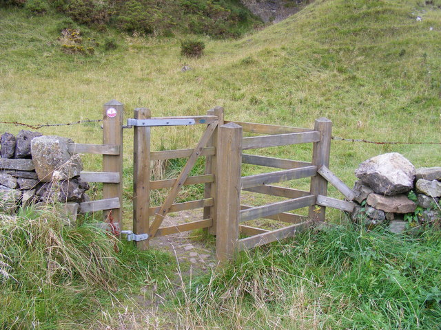 Gate to open access land at Moor House and Cross Fell