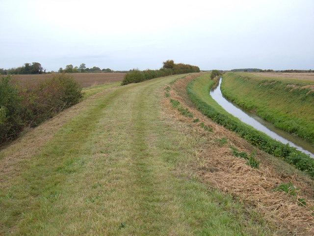 Footpath beside Monkbridge Stream Drain