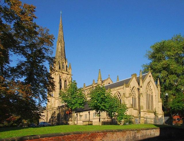 The Minster Church of St. John the Evangelist. Preston