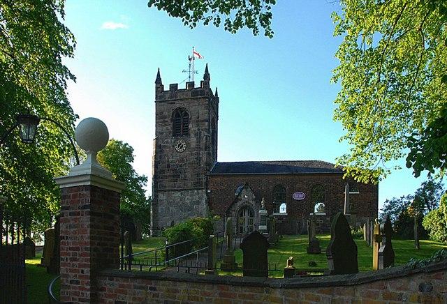 All Saints Church. Church Lawton