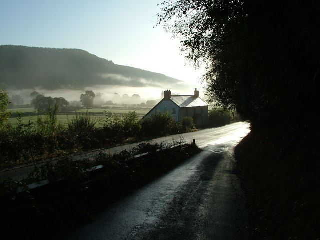 Teme Valley cottage in the morning mist