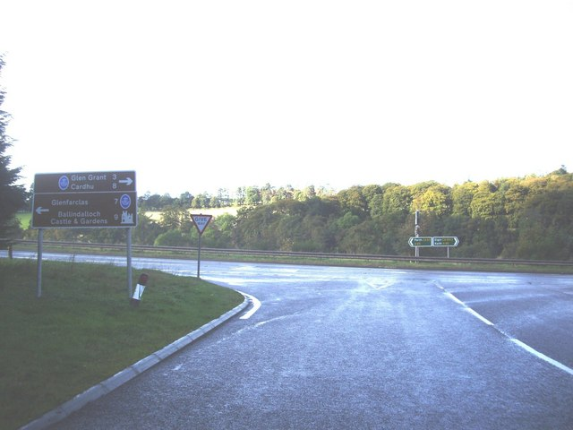 Road junction in Craigellachie