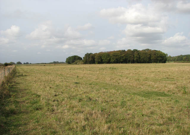 Empty pastures where a village once used to be