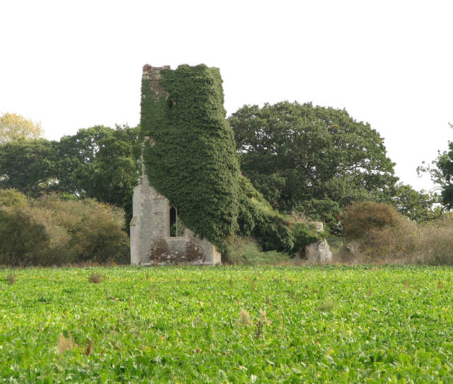 The ruined church of St Felix